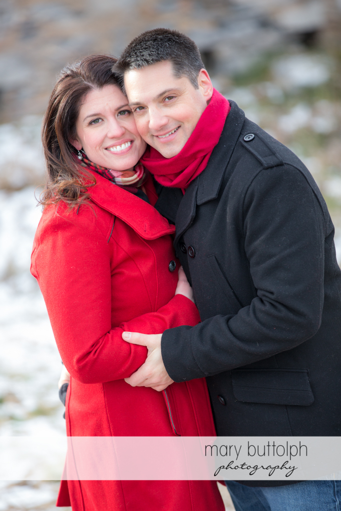 Couple show their happiness during the photo shoot at the Aurora Inn Engagement