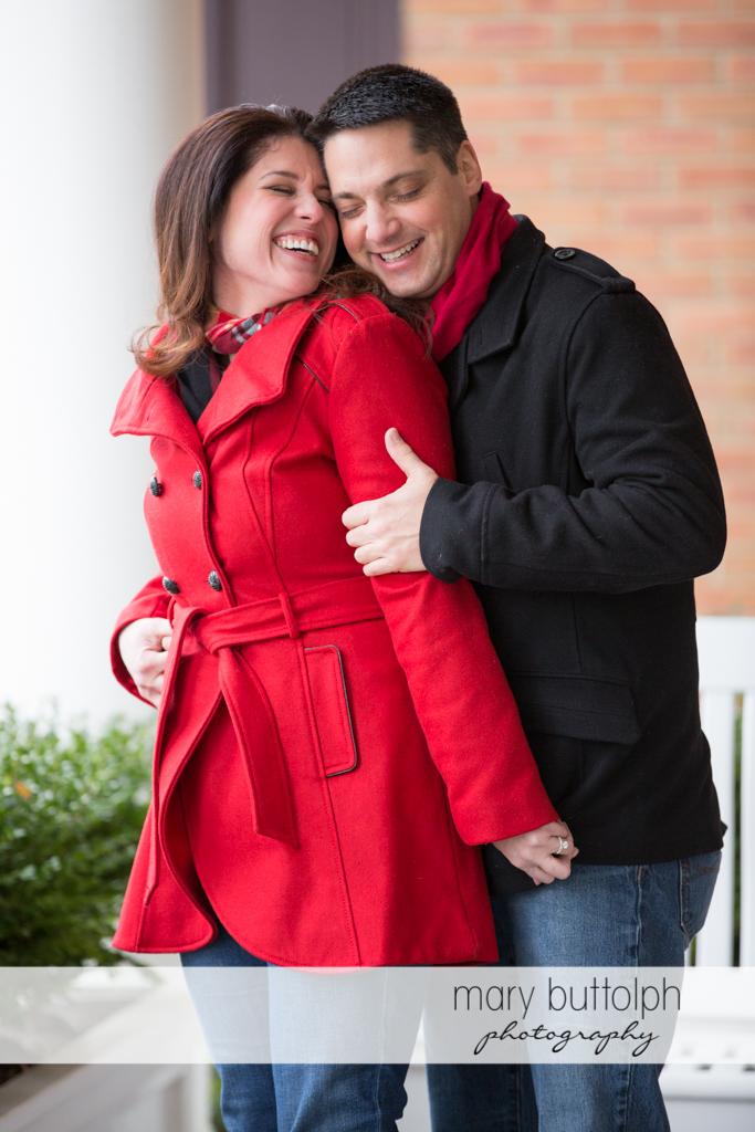 Couple in memorable shot at the Aurora Inn Engagement
