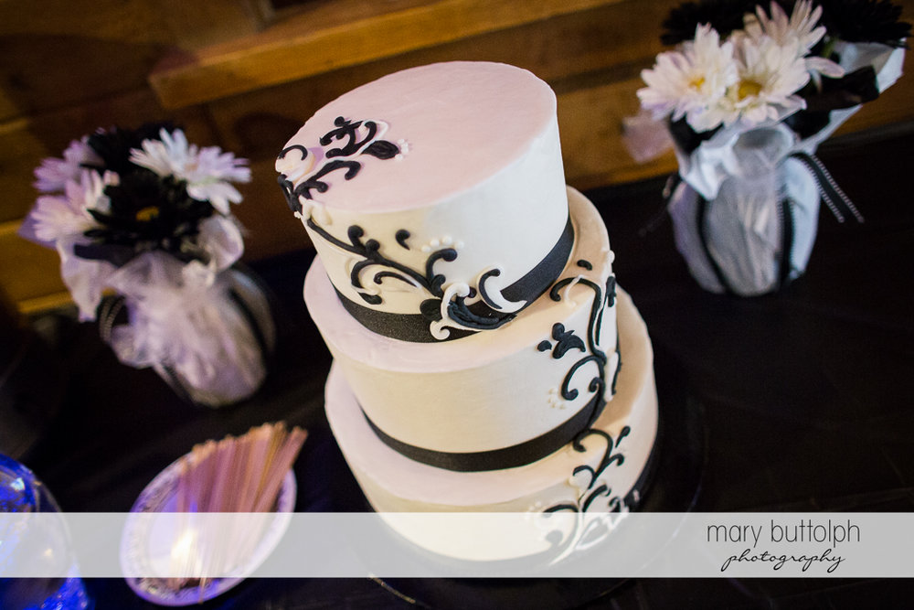 Same sex couple's wedding cake at Arrowhead Lodge Wedding