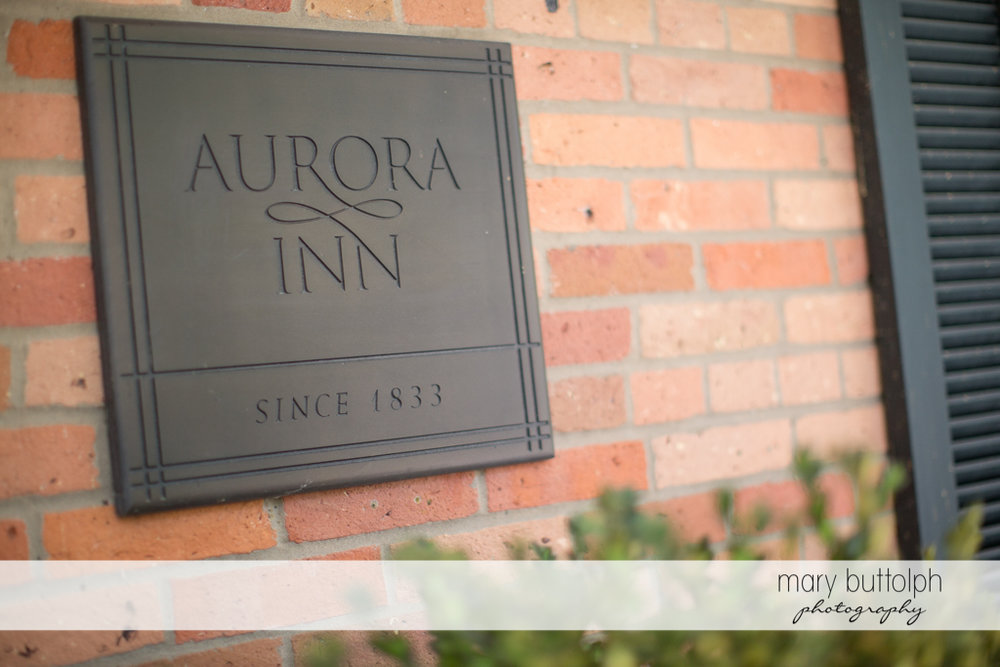 The couple's wedding venue at the Inns of Aurora Wedding