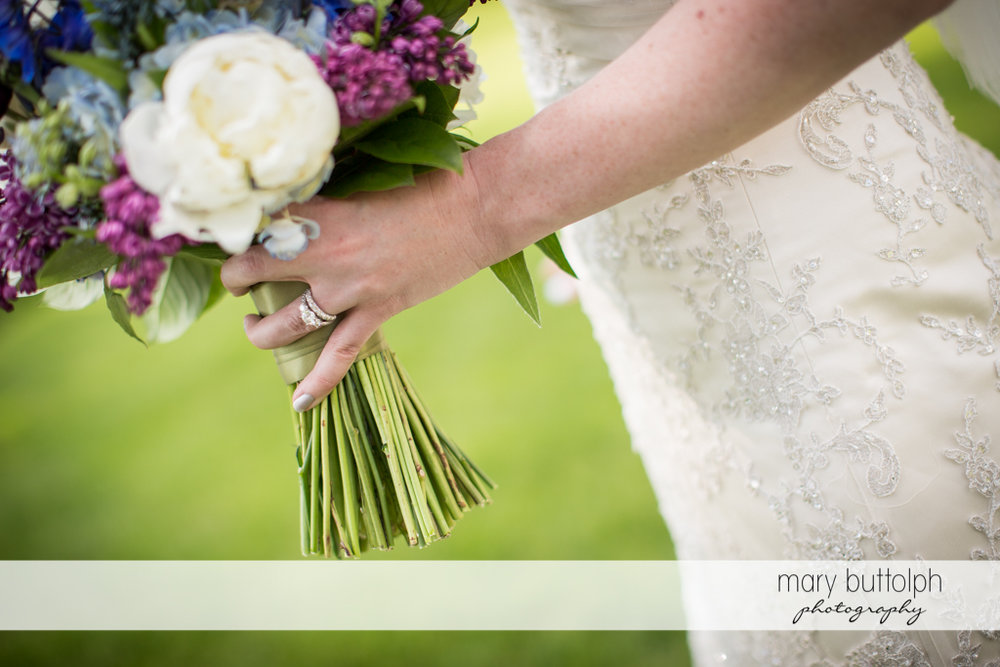 Bride's lovely bouquet at the Inns of Aurora Wedding