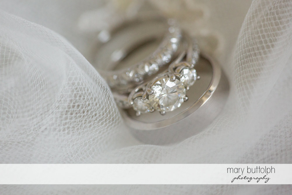 Close up of the bride's wedding ring at the Inns of Aurora Wedding