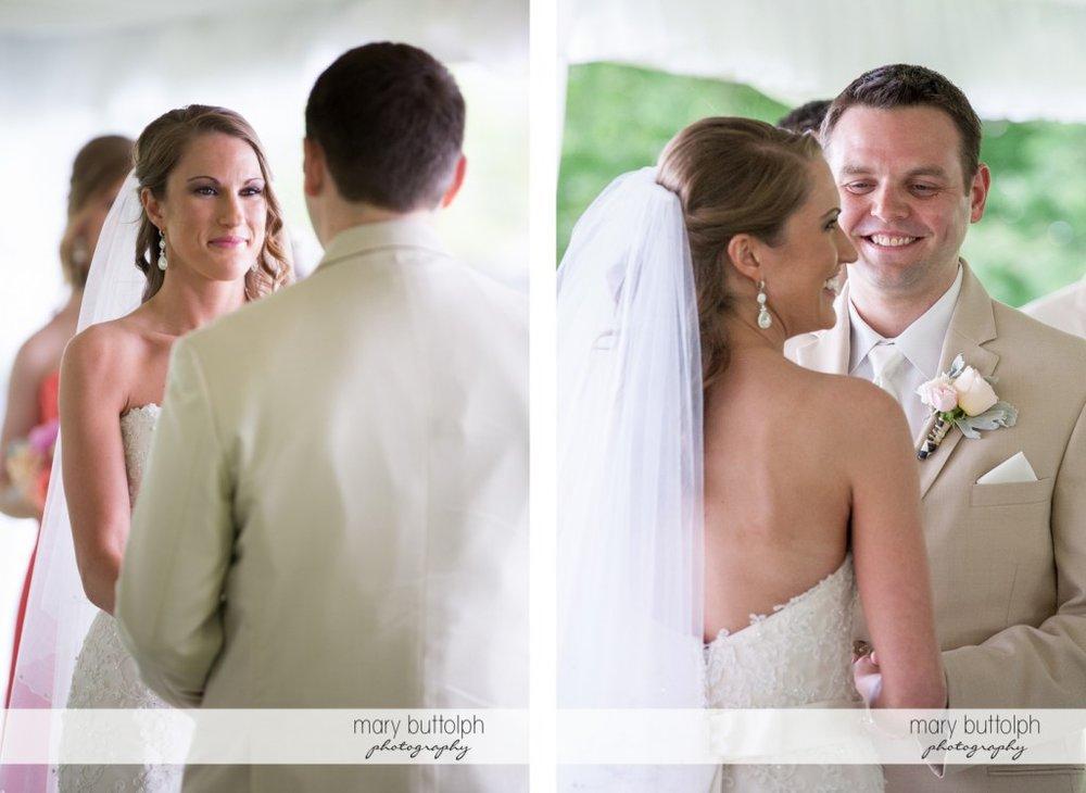 Medium shots of the couple at the Inns of Aurora Wedding