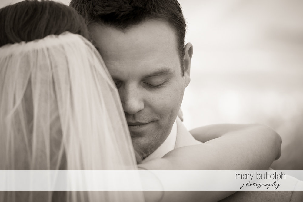 Couple in a romantic mood at the Inns of Aurora Wedding