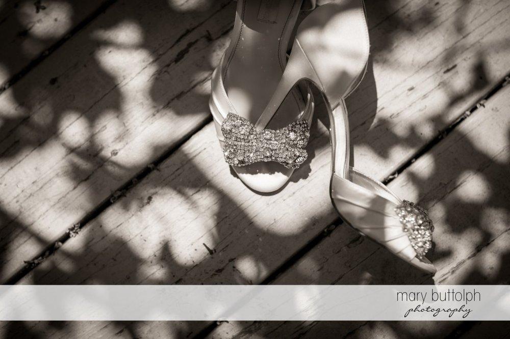 Bride's wedding shoes at Emerson Park Pavilion Wedding