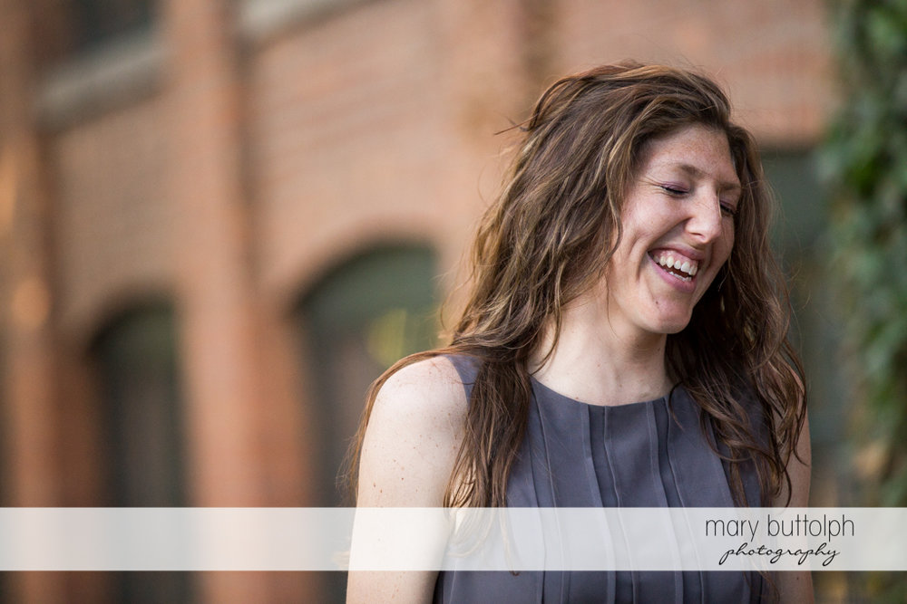 Woman remembers a funny incident during the photo shoot at Franklin Square Engagement
