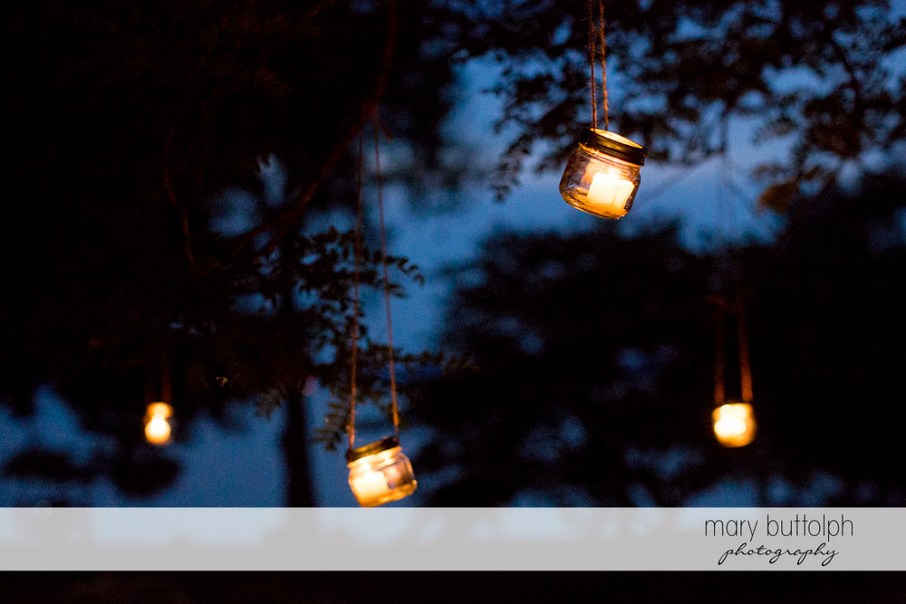 Lanterns brighten the mood at the Inns of Aurora Wedding