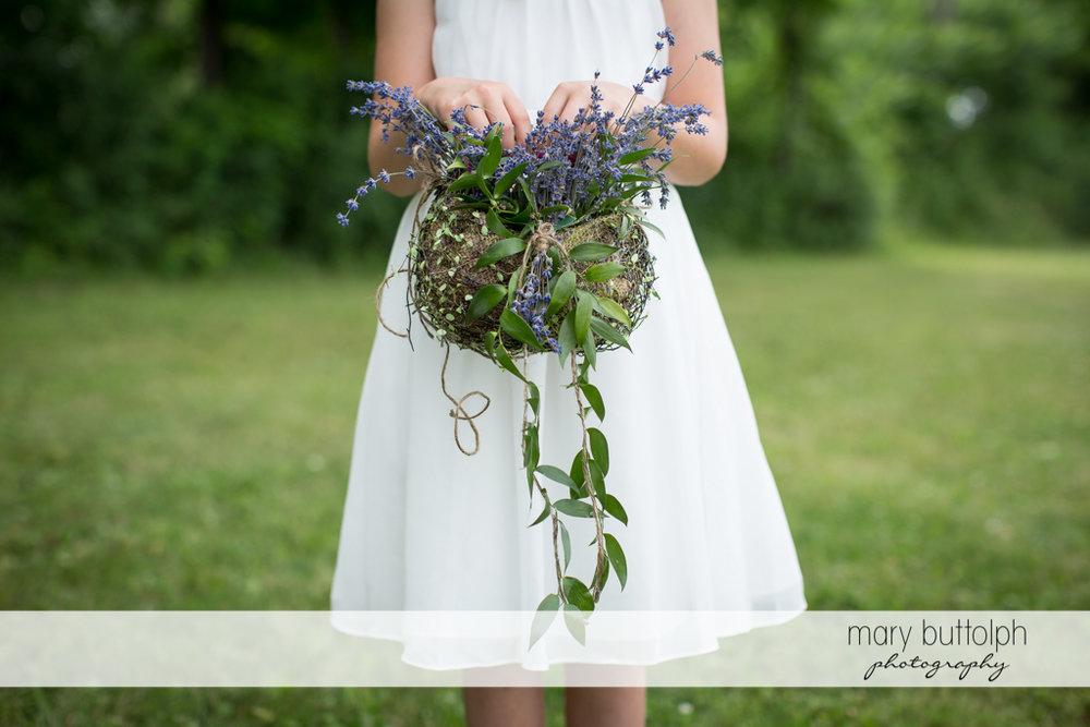 Nice basket of lavenders at the Sherwood Inn Wedding