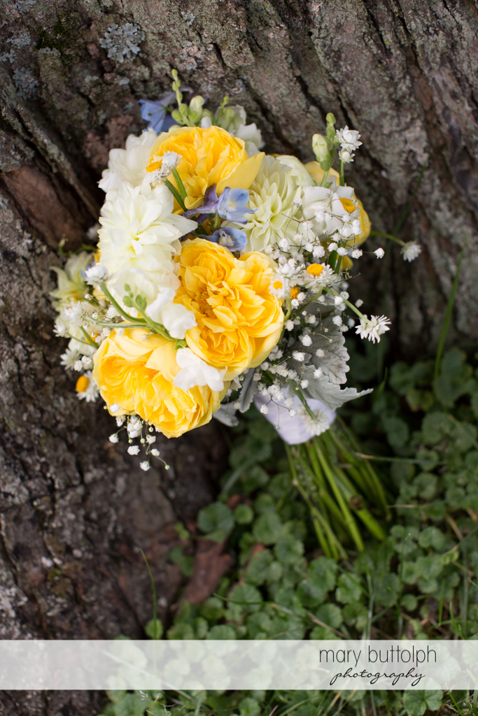 A beautiful bouquet in the garden at the Hamilton Inn Wedding