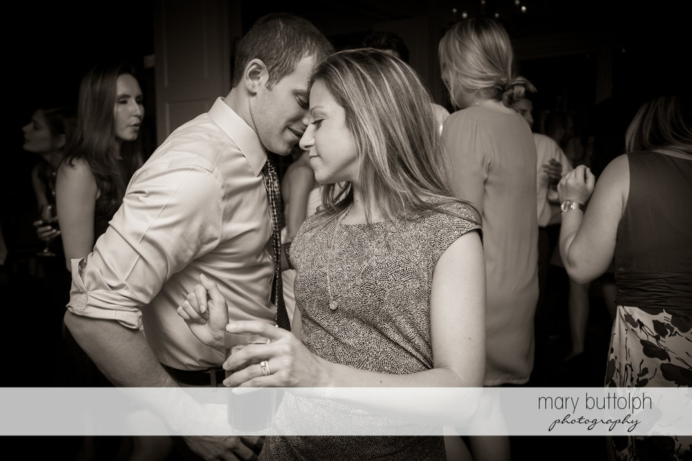 Guests enjoy dancing at the wedding venue at Skaneateles Country Club Wedding
