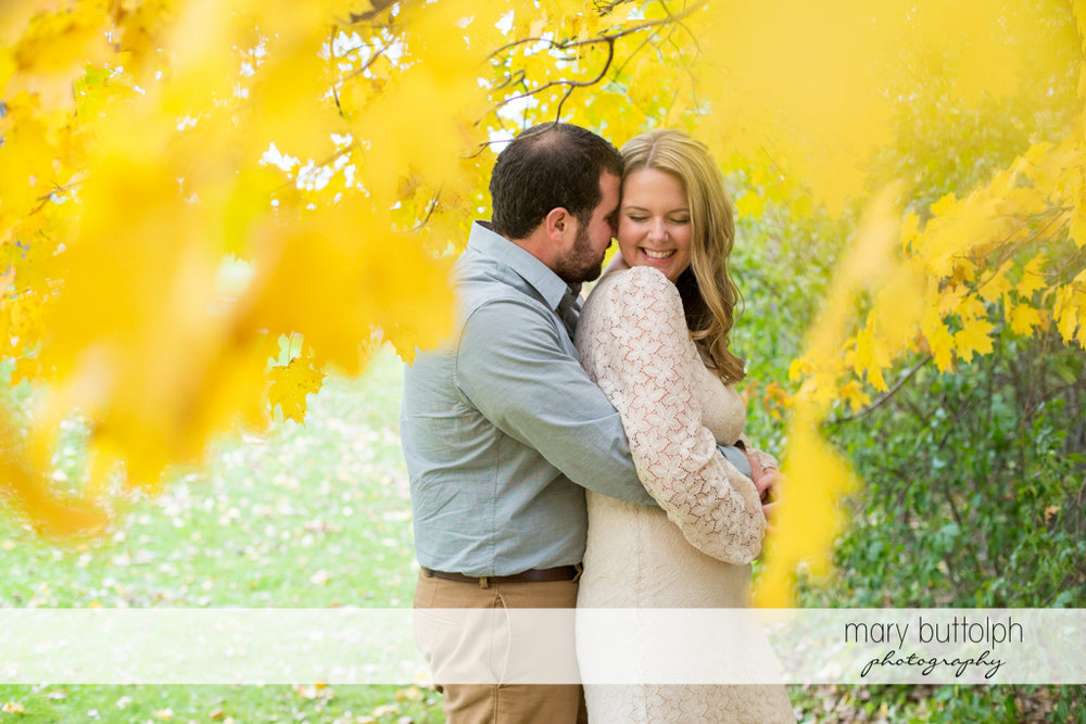 Couple create beautiful memories in the garden at Beak & Skiff Apple Orchards Engagement