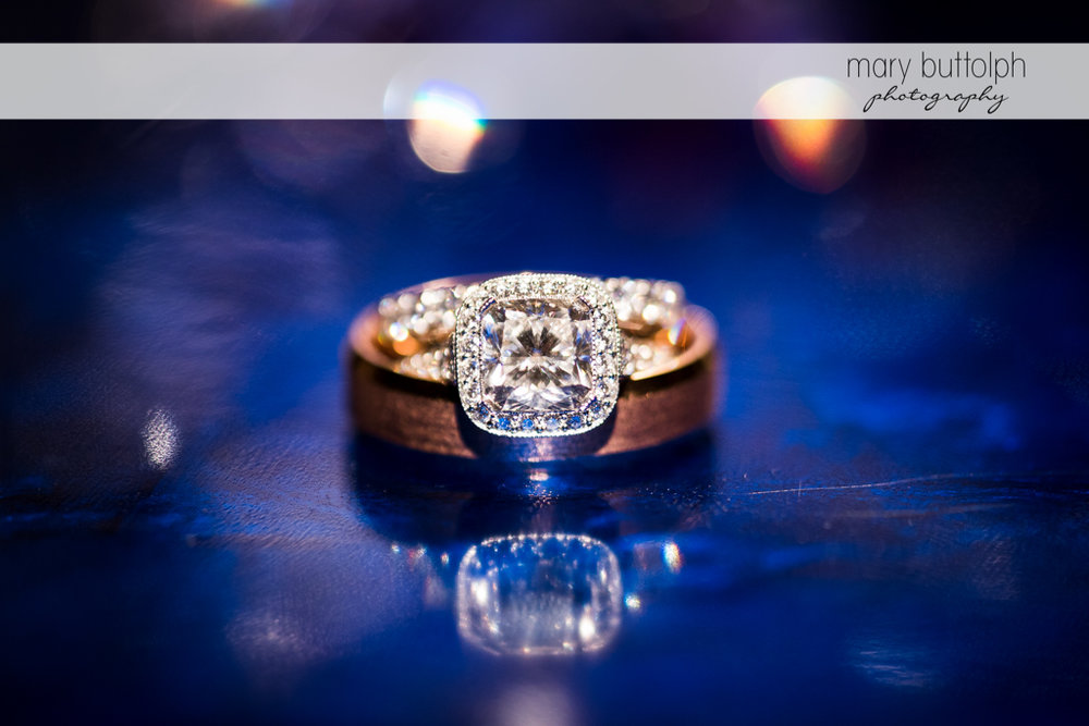 Couple's wedding rings at Rowland House Wedding