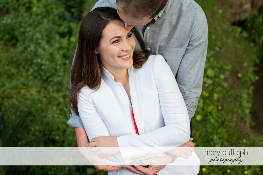 Couple show their love in the park at Skaneateles Lake Engagement