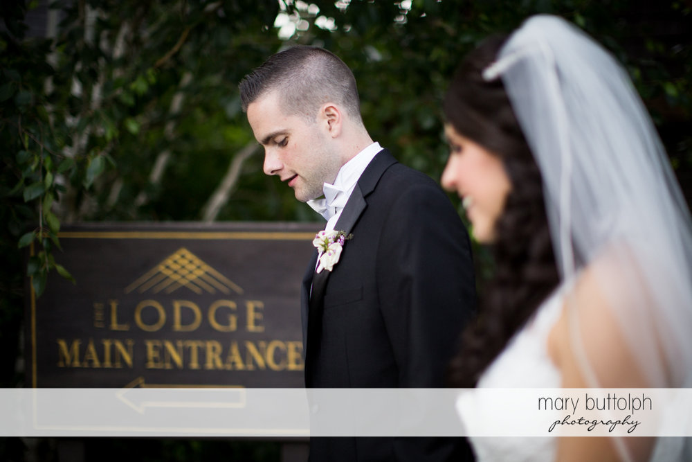 Couple make their way to the Lodge at Welch Allyn Wedding