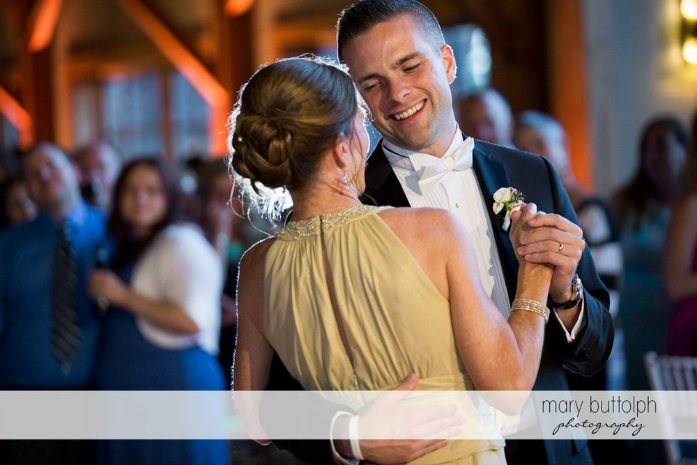 Couple enjoy dancing at the Lodge at Welch Allyn Wedding