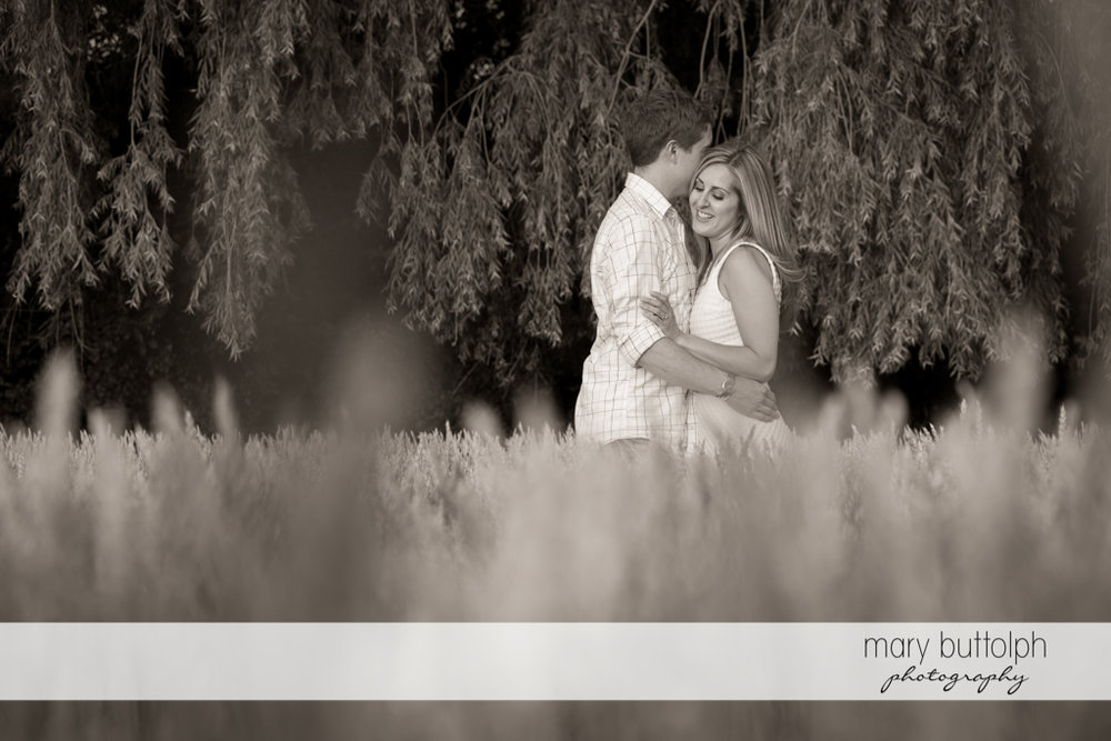 Couple enjoy the moment in a wheat field at Skaneateles Engagement