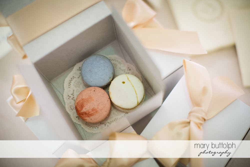 Macaroons with different colors at Emerson Park Pavilion Wedding