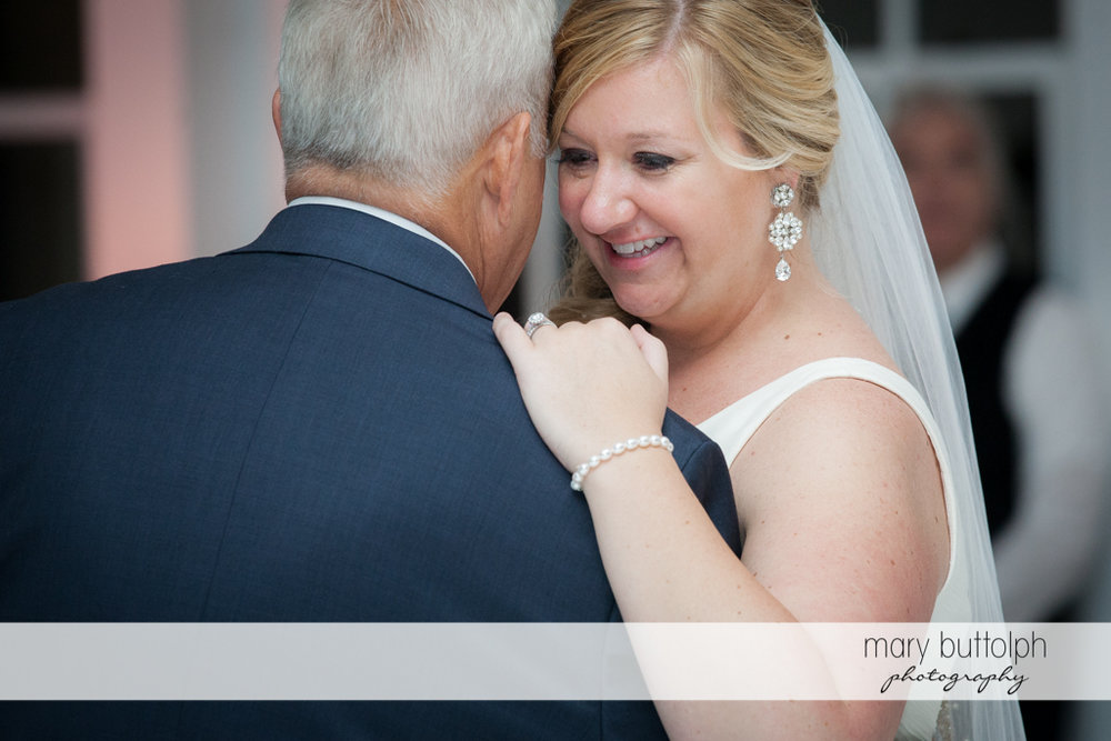 Bride enjoys dancing with her dad at Emerson Park Pavilion Wedding