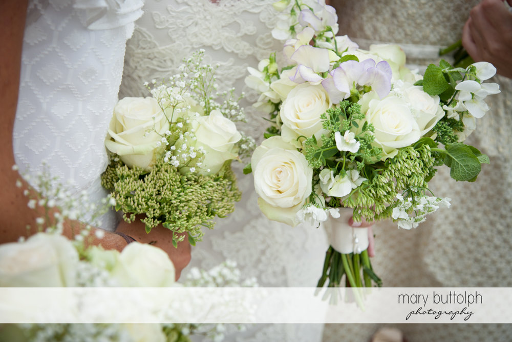 Close up shot of the bride's flowers at Skaneateles Country Club Wedding