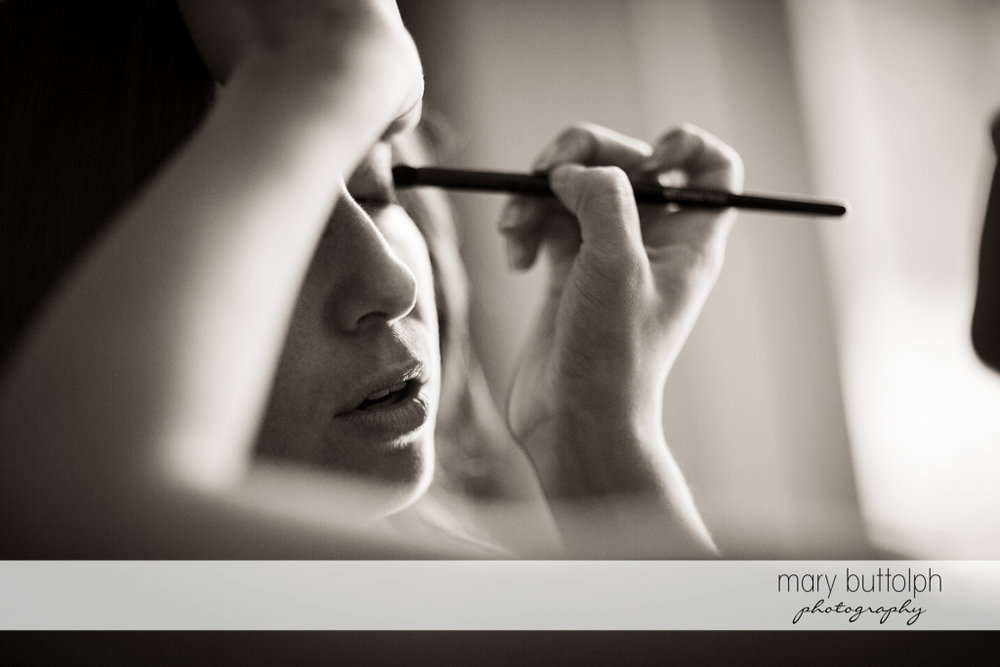 Bride gets a makeover at the Brewster Inn Wedding