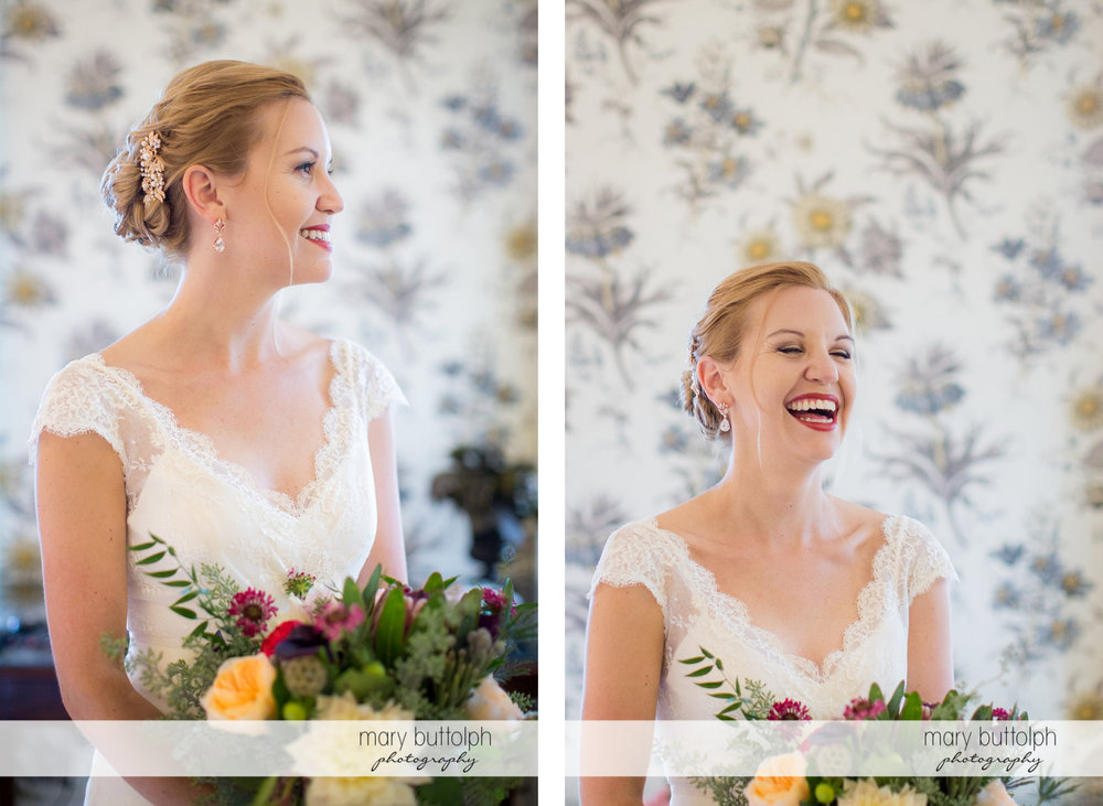 Two great shots of thebride at the Inns of Aurora Wedding