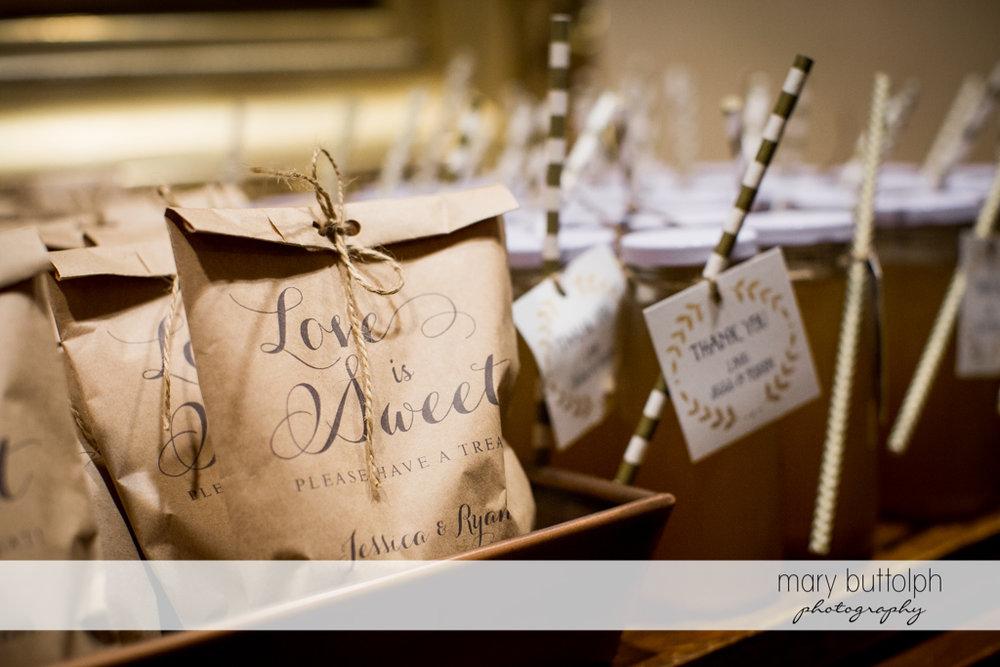 Sweet wedding treats await guests at the Inns of Aurora Wedding