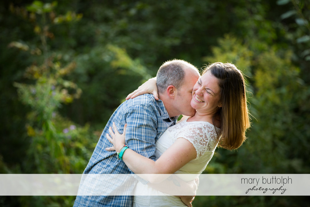 Couple spend quality time together at the park at Skaneateles Engagement