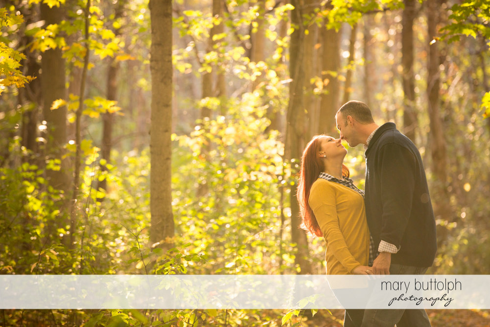 Couple stroll at the park at Cazenovia Engagement