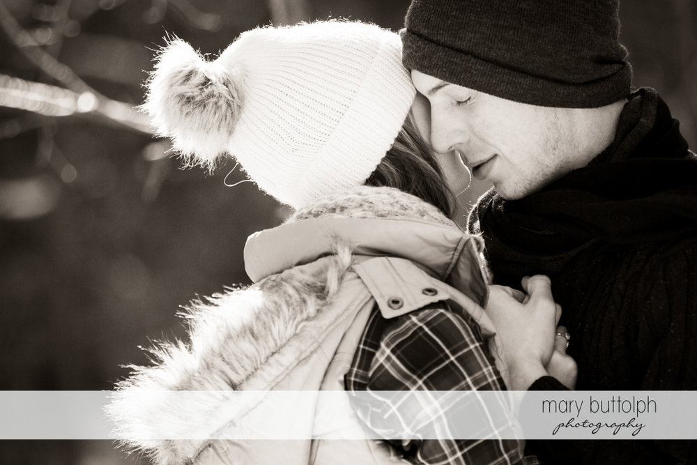 Couple express their love at Green Lakes Engagement