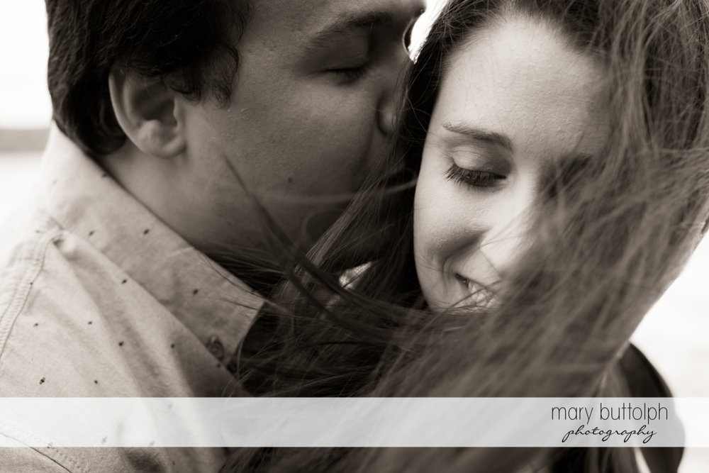 Couple black and white shot at Skaneateles Engagement