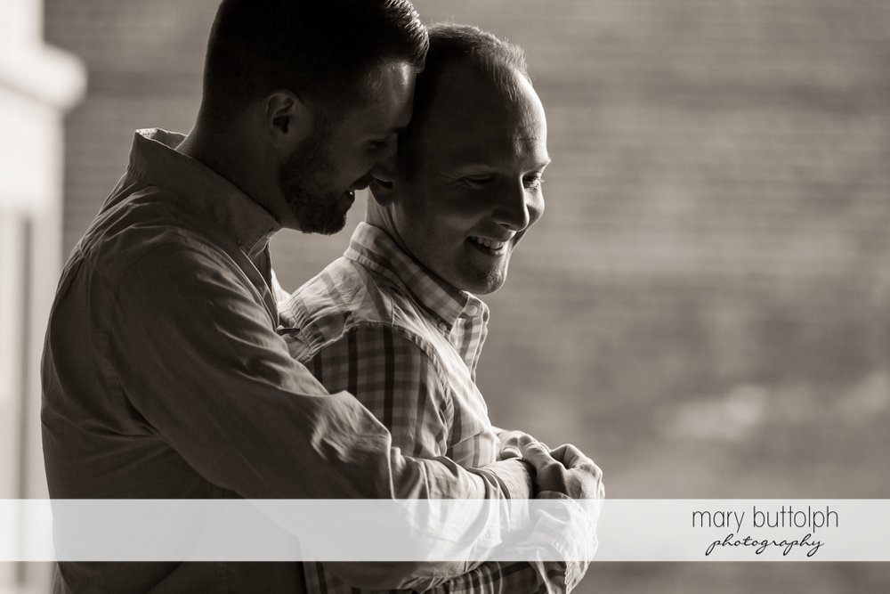 Same sex couple in dramatic shoot at Skaneateles Engagement