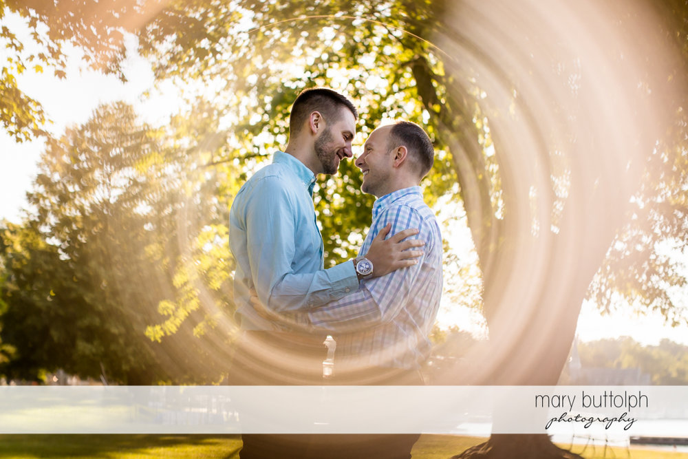 Same sex couple become the center of attraction at Skaneateles Engagement