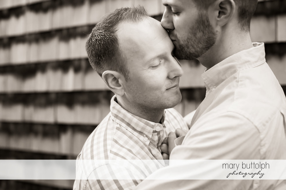 Same sex couple express their love at Skaneateles Engagement