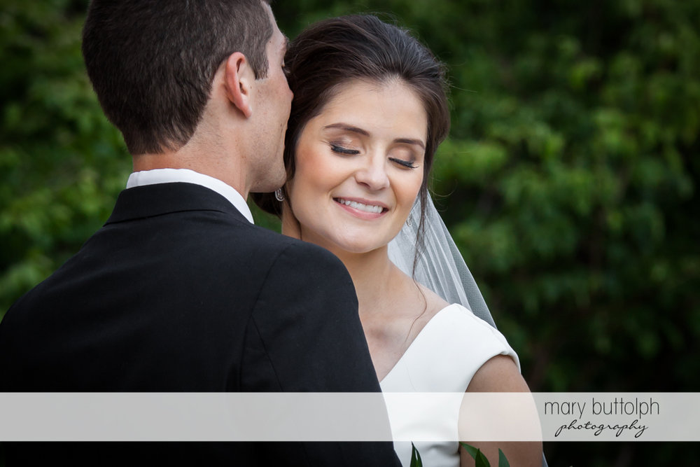 Couple in a romantic mood at Genesee Grande Hotel Wedding