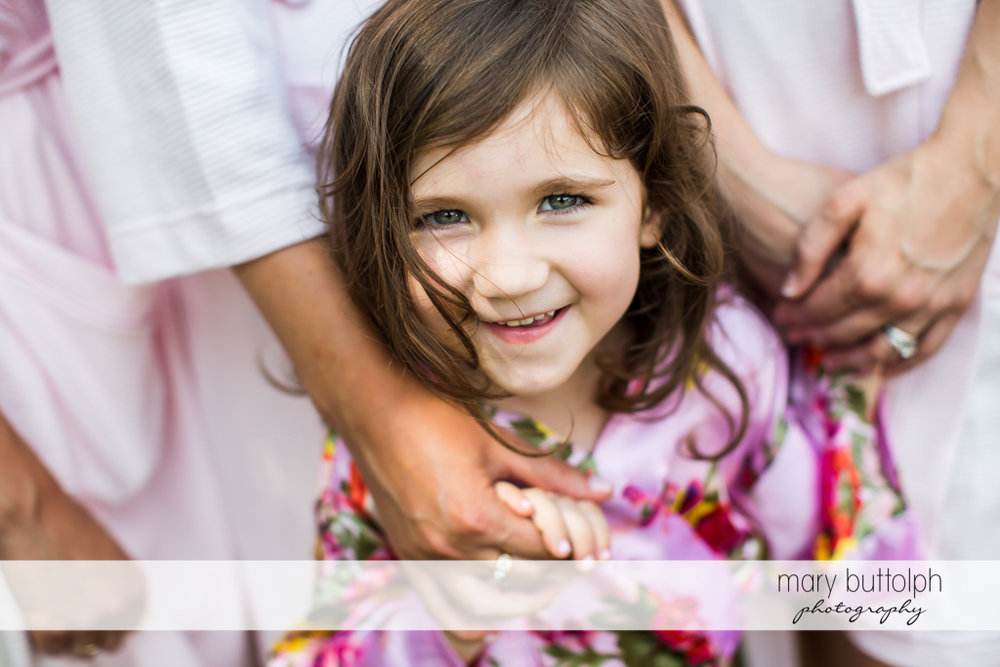 Girl smiles for the camera at Genesee Grande Hotel Wedding
