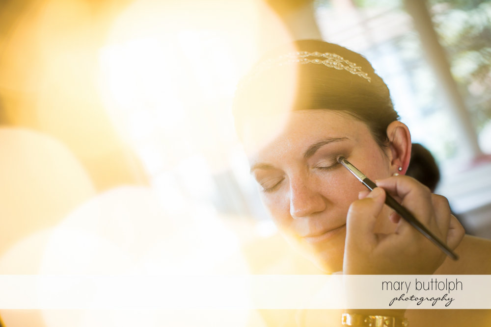 Bride gets a makeover at The Sherwood Inn Wedding