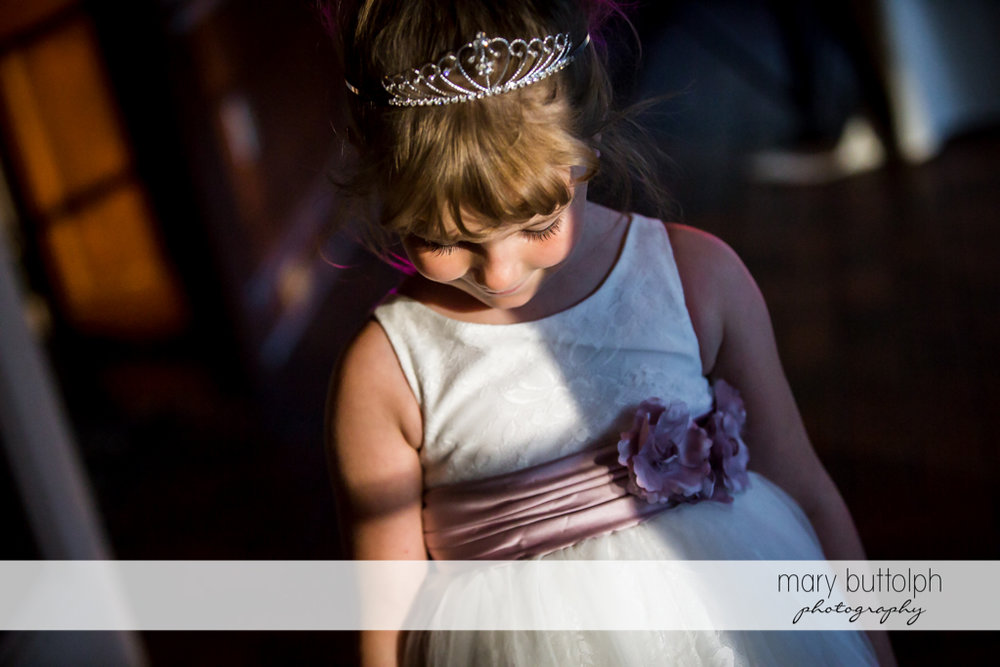 Bride's daughter in deep thought at The Sherwood Inn Wedding