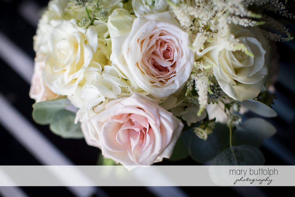 Close up shot of flowers at The Sherwood Inn Wedding