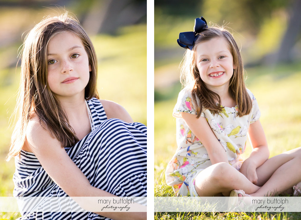 Close up shot of girls sitting on the grass at Skaneateles Country Club