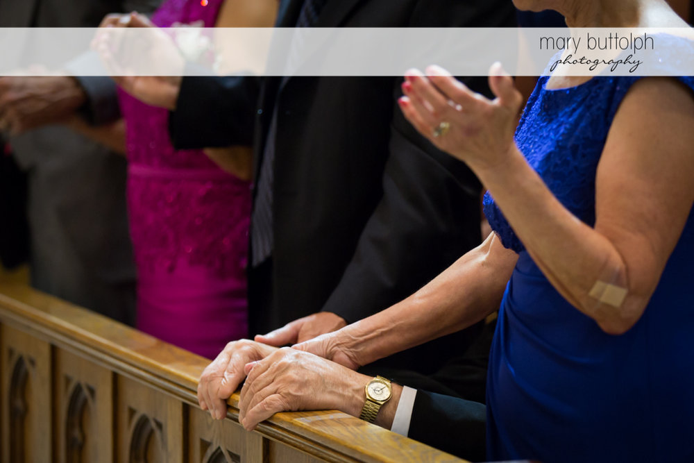 Guests' hands speak louder than words at the Lodge at Welch Allyn Wedding