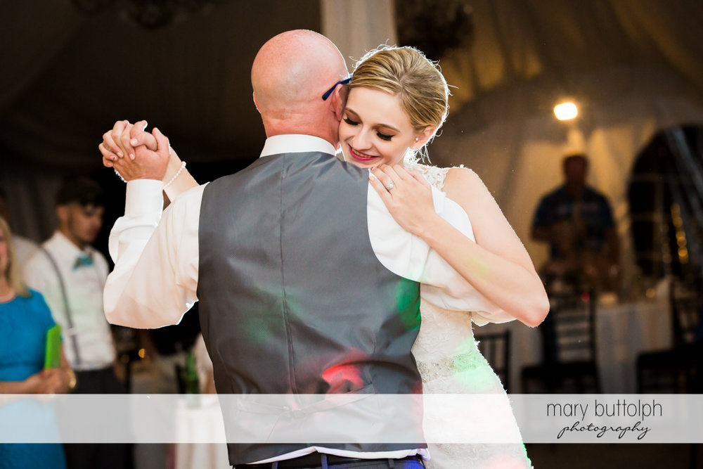 Bride dances with her father at John Joseph Inn and Elizabeth Restaurant Wedding