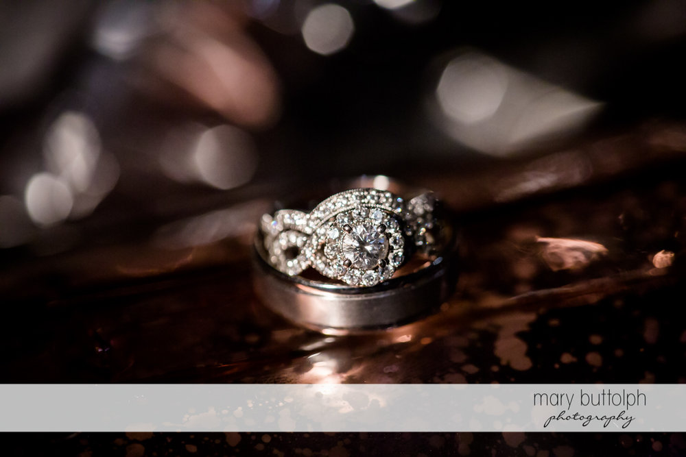 Bride's ring at John Joseph Inn and Elizabeth Restaurant Wedding