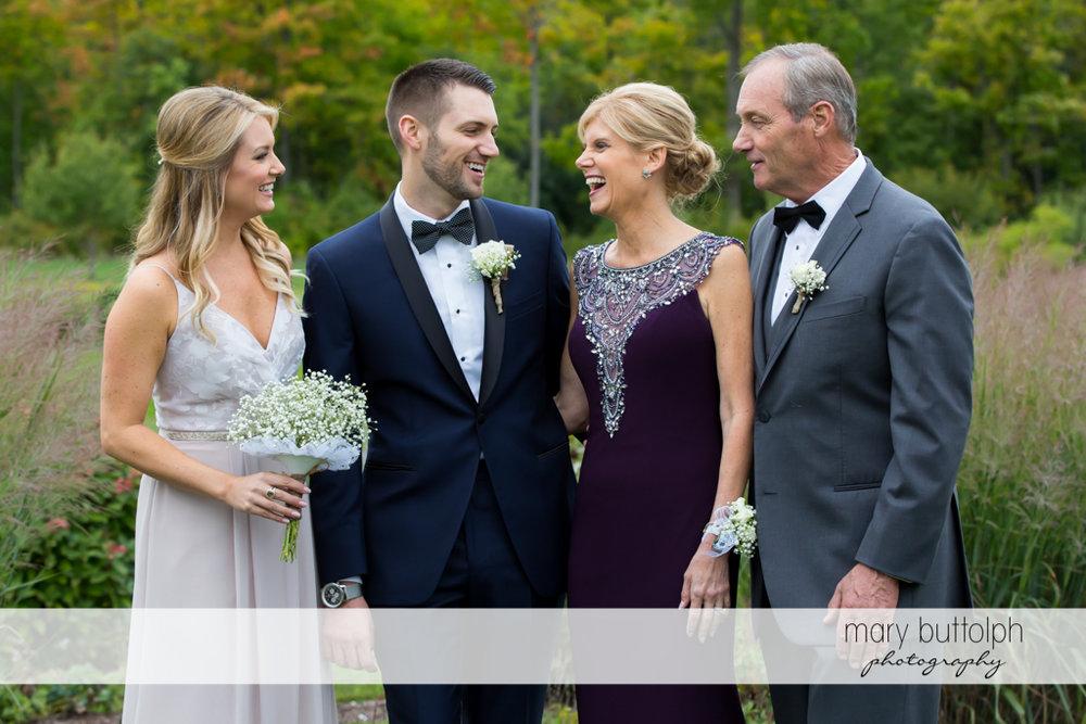 Groom with family at Anyela's Vineyards Wedding