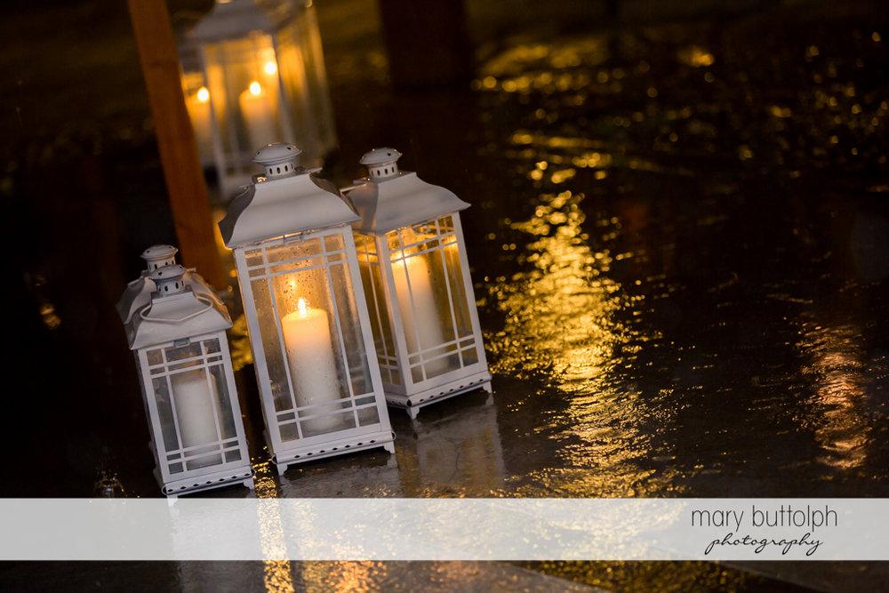 Candles brighten up the wedding night of same sex couple at Anyela's Vineyards Wedding