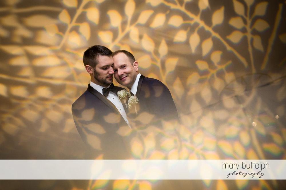 Same sex couple in arty shot at Anyela's Vineyards Wedding