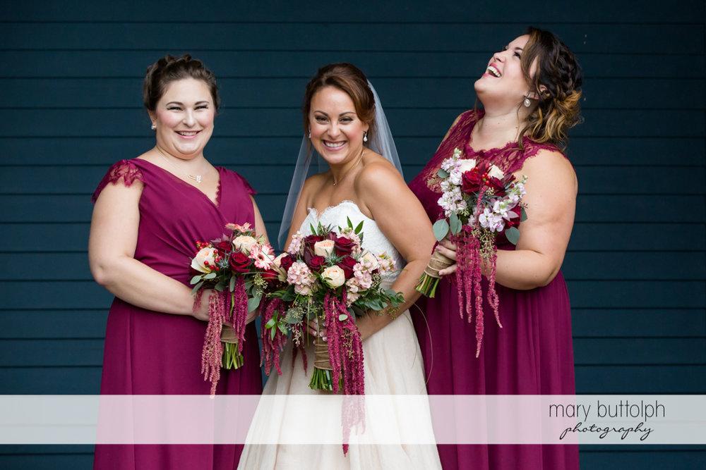 Bride and bridesmaids at Sherwood Inn Wedding