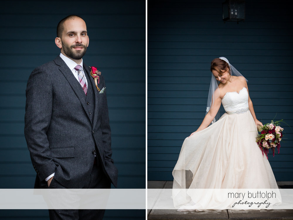 Groom and bride at Sherwood Inn Wedding