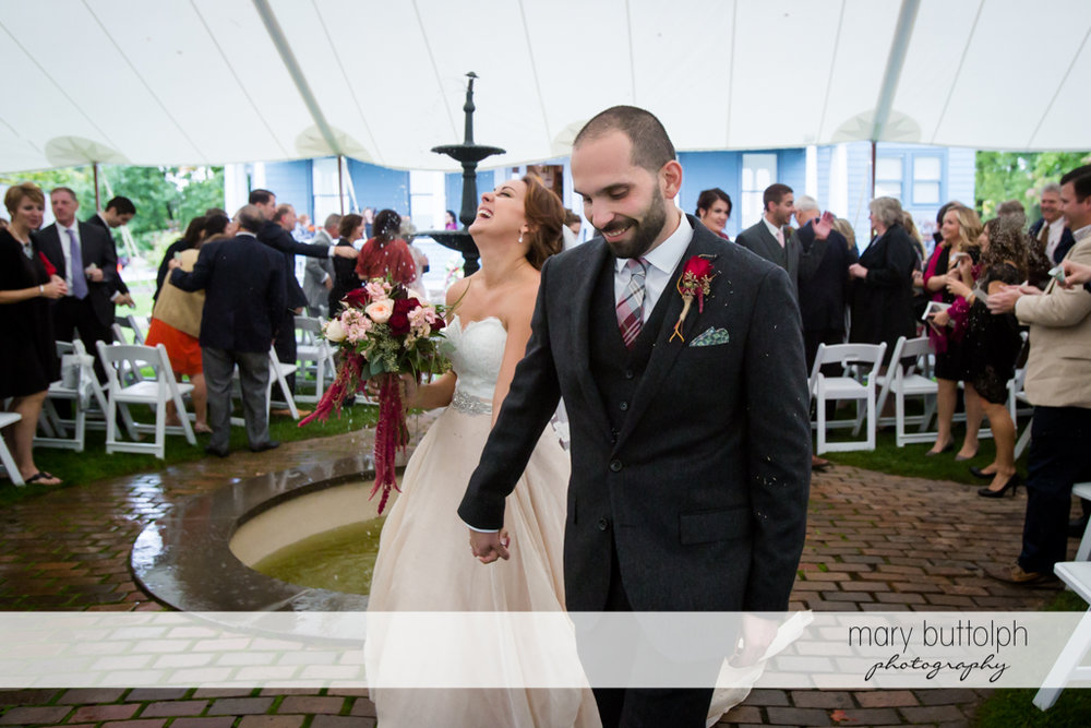 Couple share happy moment at Sherwood Inn Wedding