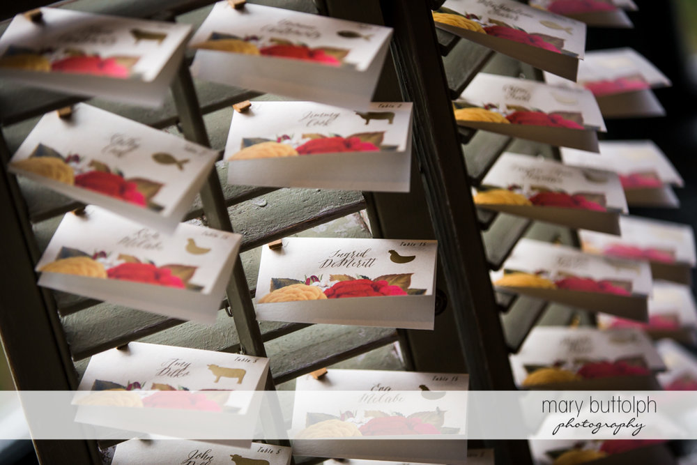 Wedding invitations at Sherwood Inn Wedding