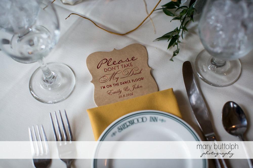 Friendly reminder at Sherwood Inn Wedding-